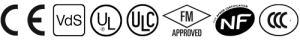 CE VDS logos